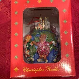 Radko Teddies Around the World Ornament